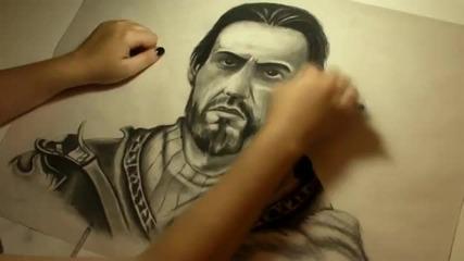 Страхотно рисуване на Ezio!