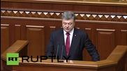 Ukraine: Poroshenko 'not satisfied' with his work as president