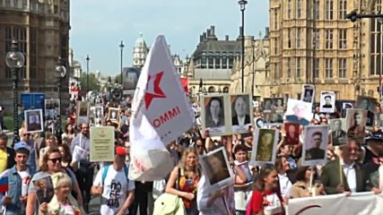 UK: Hundreds attend Immortal Regiment march in London