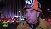 USA: Flames engulf commercial LA building - numerous rescued, one injury reported