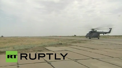 Mи-8 хеликоптери взеха участие в голямо военно обучение в Русия