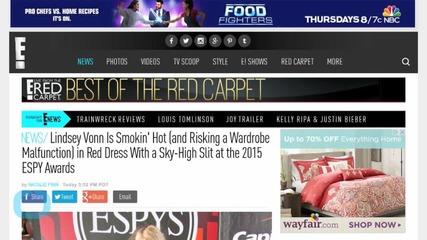 Lindsey Vonn Risks Wardrobe Malfunction at the 2015 ESPY Awards