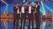 Баща и трима синове изумиха журито и публиката със своето изпълнение - Britain's Got Talent 2015