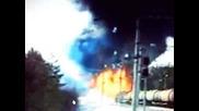 Пожар в товарен влак