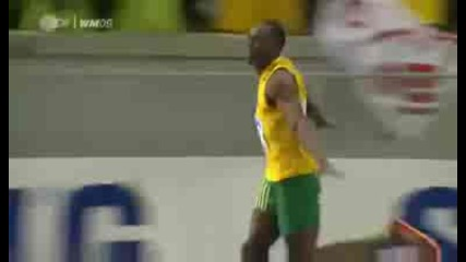 New World Record Usain Bolt 9.58 100m Berlin World Chamionships High Quality