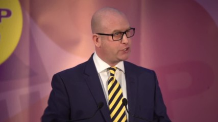 "UK: Paul Nuttall wins UKIP leadership, vows to push for ""real Brexit"""