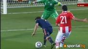 Испания Парагвай 1:0 гол на Давид Bия