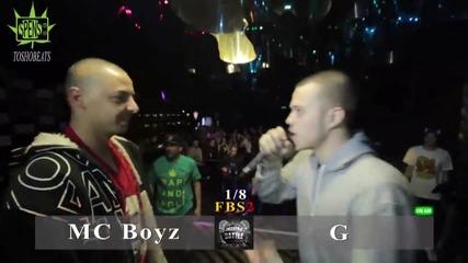Freestyle battle - G vs mc Boyz @ gramofon