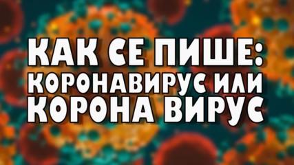 Как се пише: коронавирус или корона вирус?