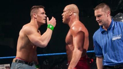 Kurt Angle & John Cena vs. The Bashams: SmackDown, Feb. 19, 2004