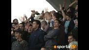 23.04 Феновете на Левски при победата над цецека с 3:2 във финала за купата