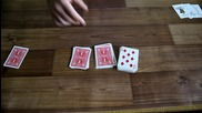 Магическата 8-ца трик с карти