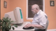 Смях ... Дядо и компютър !!!