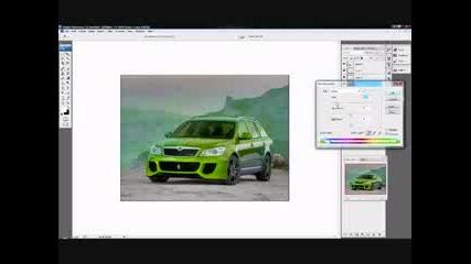 Photoshop Virtual Tuning Skoda