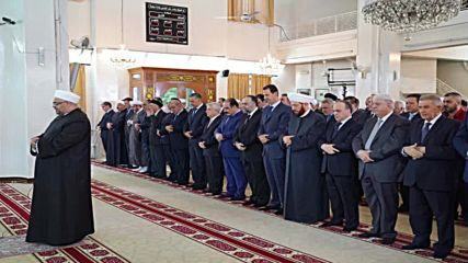 Syria: Assad attends Eid al-Adha prayers in Damascus *STILLS*