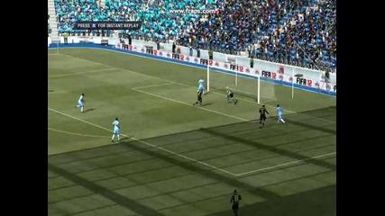 Fifa 12 - Невероятно изпълнение от страна на Тевез и Агуеро