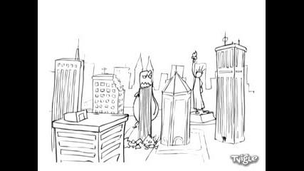 Godzilla vs Статуята на свободата (xpyc Team)