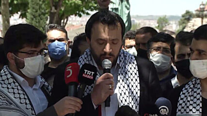 Turkey: Protesters rally in support of Palestinians in Ankara