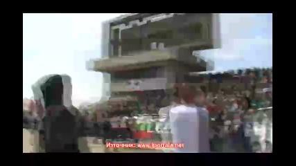 Черно-бялата радост след края на мача за Купата на България - Локо Пд 2:1 Левски