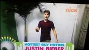 Джъстин Бийбър благодари на своите фенове..nickelodeon Kids Choice Awards