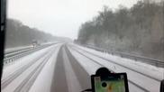 Една немска магистрала през зимата