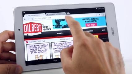 Таблет с Full HD екран и Intel четириядрена платформа - Acer Iconia Tab 8 (A1-840FHD)
