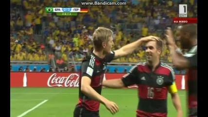 Бразилия 1:7 Германия (бг аудио) Мондиал 2014