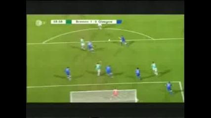 Werder Bremen - Glasgow Rangers Diegos goal