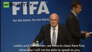 FIFA's Sepp Blatter Showered in Fake Money by Comedian
