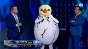 Пилето изпълнява Stayin' Alive на Bee Gees | Маскираният певец
