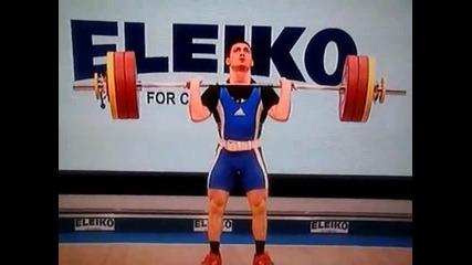Ивайло Филев е европейски шампион по вдигане на тежести до 62 кг. за 2014!