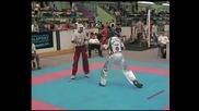 Полуфинал в категория до 57кг., лайт - контакт, Сегед, Унгария