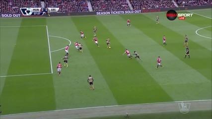 Манчестър Юнайтед - Арсенал 2:1 /първо полувреме/