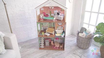 Модерна дървена къща за кукли – Къщата на Доти от Kidkraft - Dottie Kidkraft 65965