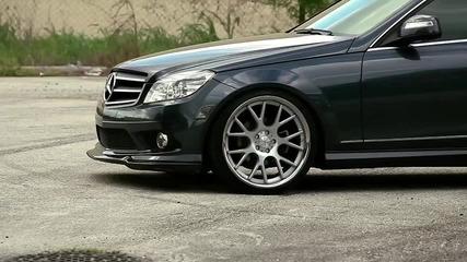 Mercedes C350 on 20' Vossen Vvs-cv2 Concave Wheels Rims