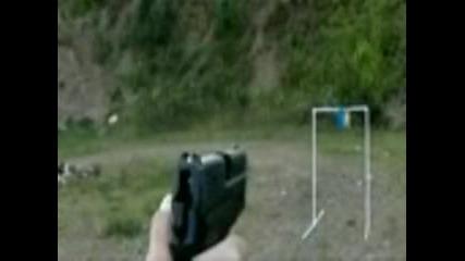 Стрелба с Sig Sauer на забавен кадър