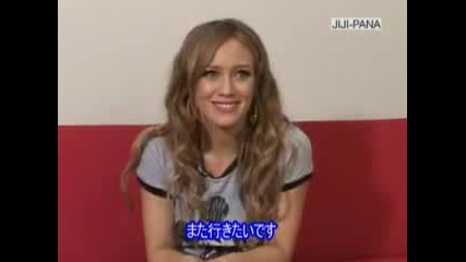 Hilary Duff-Interview Japan Promotion For The Disney Mobile