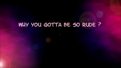 Rude- Magic! (lyrics)