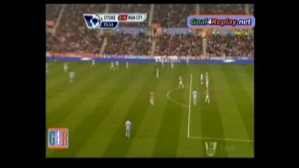 Страхотен гол на Яя Туре с бг коментар - Стоук Сити 1:1 Манчестър Сити