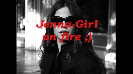 Jenna-girl on fire