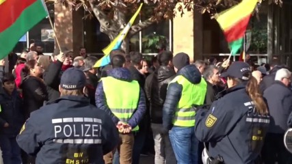 Germany: Pro-Kurdish protesters scuffle with police outside Stuttgart's Turkish consulate
