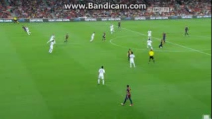Pedro Great Goal - Barcelona vs Real Madrid 1-1 - Super Cup - (23-8-2012)