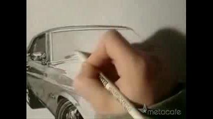 Рисуване на Форд Мустанг - талант