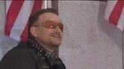 U2 пеят сръбско пред Обама