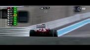 F1 Гран при на Абу Даби 2012 - последните обиколки на Raikkonen преследван от Alonso [hd]