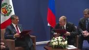 France: Putin meets Peruvian President Humala on sidelines of COP21