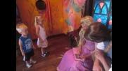 Meeting Rapunzel and Flynn Rider at Disneyland