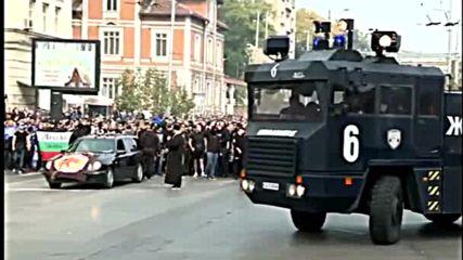 Шествието на левскарите преди мача с ЦСКА