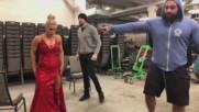 Русев и Ейдън Инглиш надъхват Лана преди важен мач