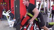 Фитнес упражнения - Мечка с опора на гърдите